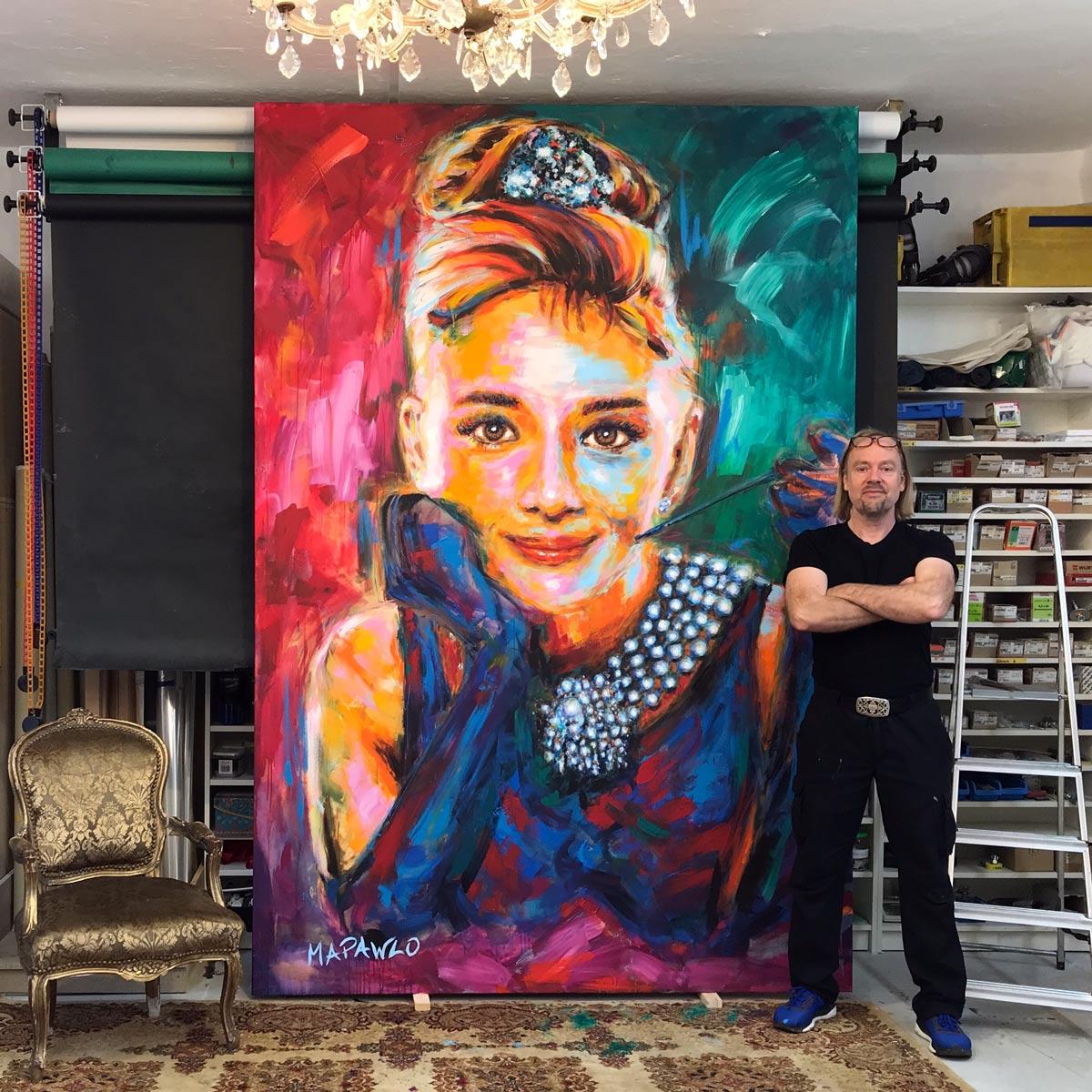Audrey Hepburn MAPAWLO COLLECTION copyright